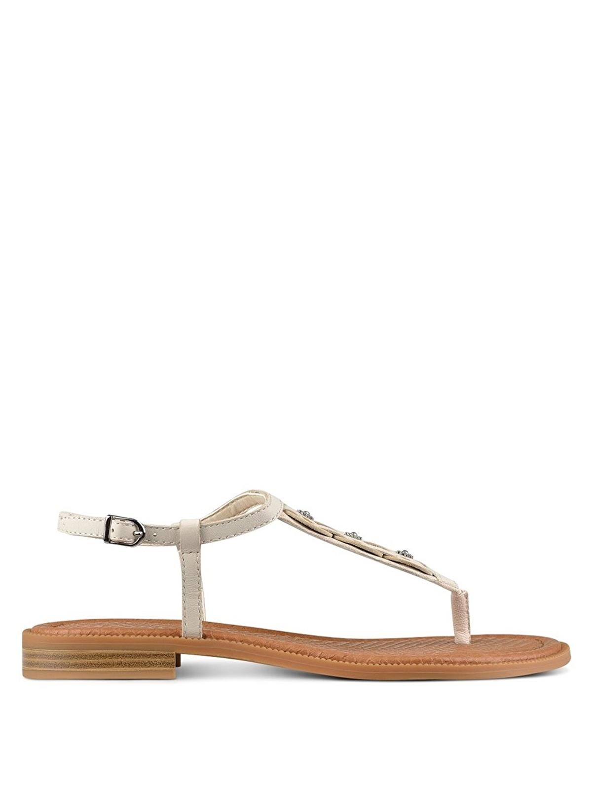 d860d0aa9fb1f Nine West Kadın Sandalet Ekru Gerçek Deri | Morhipo | 21257166